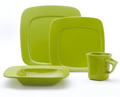 Studio Nova Compose Green 16-piece Dinnerware Set
