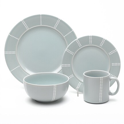 studio nova pezze green 16 piece dinnerware set free shipping on