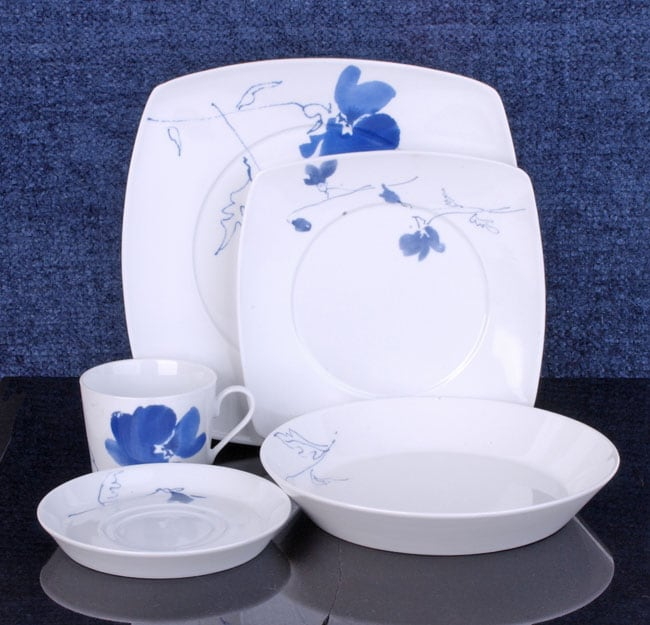 studio nova blue ming 20 piece dinnerware set free