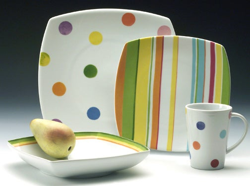 studio nova chromatics 16 piece dinnerware set free shipping today