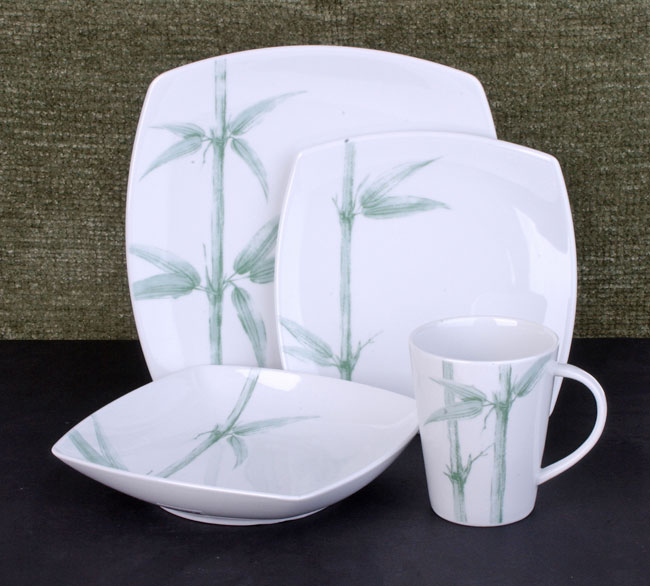 studio nova green bamboo 16 piece dinnerware set free shipping today