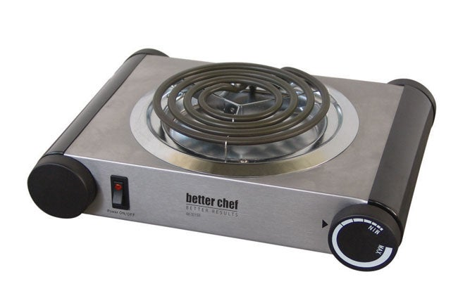 Better Chef IM-301SB Stainless Steel Single Electric Burner