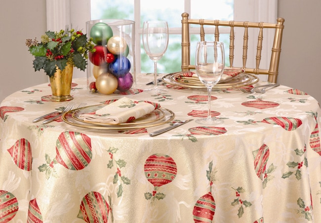 Christmas Charm Tablecloth And Napkin Set Free Shipping