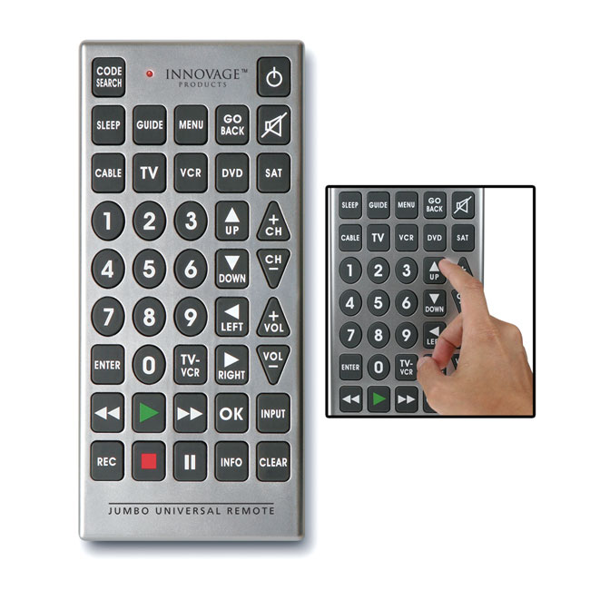 Shop Innovage Jumbo Universal Remote Free Shipping On Orders Over