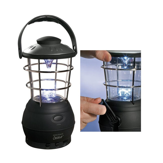 Battery Free 5X LED Lantern with FM Scan Radio
