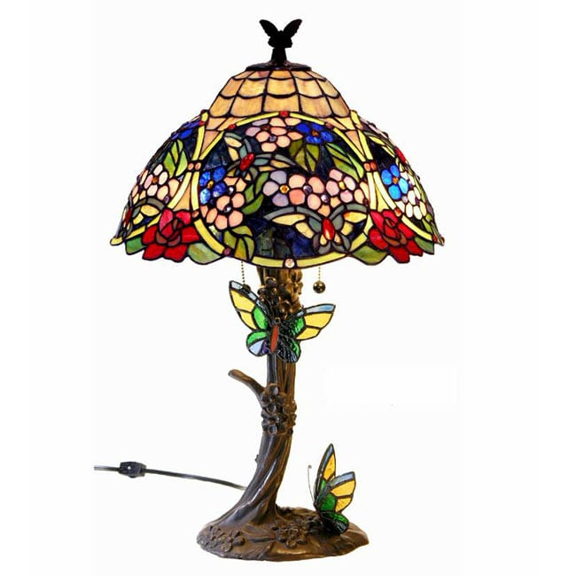 Shop Tiffany Style Butterfly Table Lamp Free Shipping