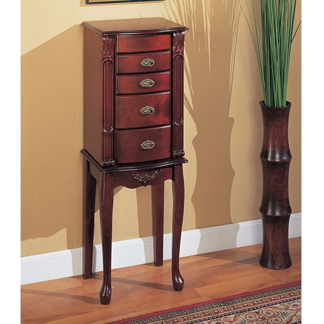 small jewelry armoires small mahogany jewelry armoire free shipping today 1725
