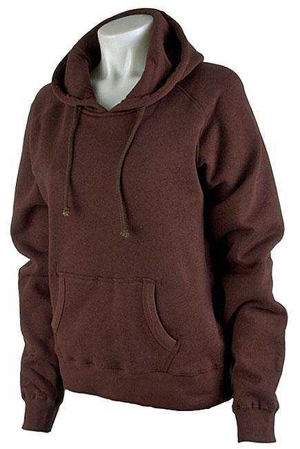 Plain Women S Brown Pullover Hooded Sweatshirt Free