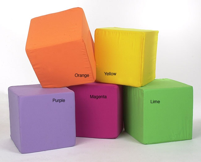 Shop Neat Seat Foam Cube Ottoman Free Shipping On Orders