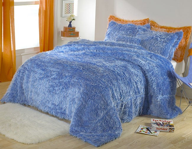 Benji Faux Fur Comforter Set (Twin)