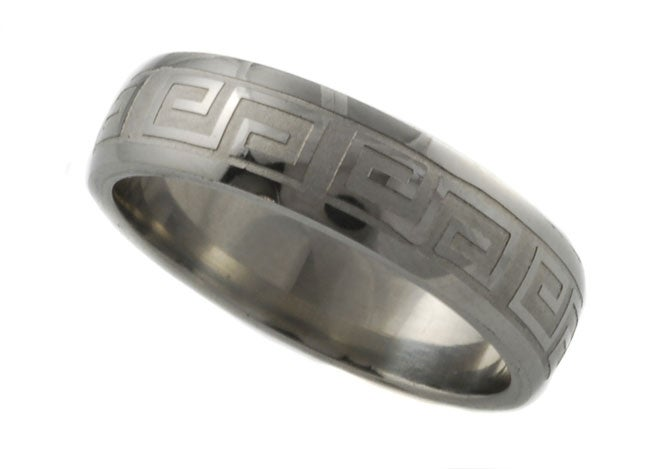 Stainless Steel Greek Style Band