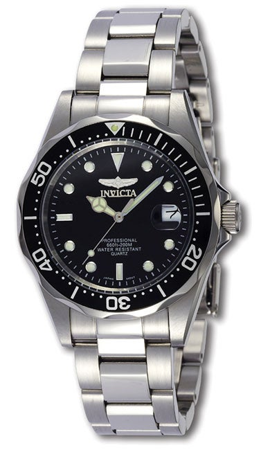 Invicta Pro Diver SQ Men's Quartz Steel Watch, Black, Siz...