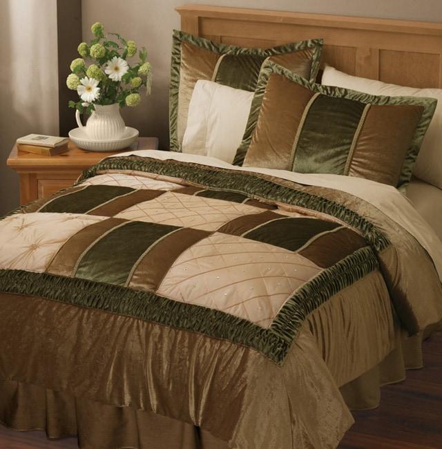 Enhance Embroidered Velour/Satin Comforter Set (King)