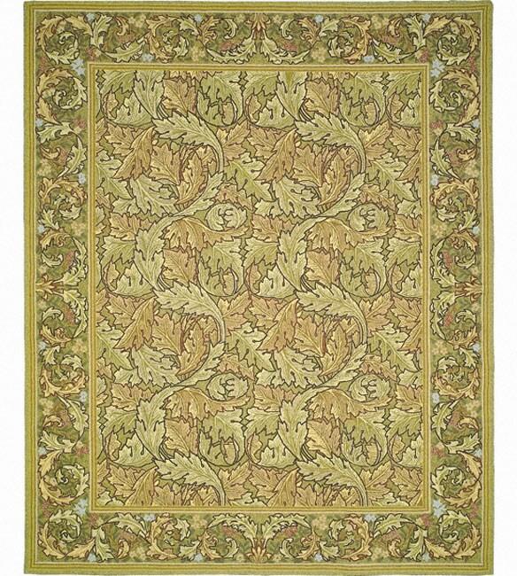 Nourison Hand-hooked Bijoux Green Wool Rug (9'9 x 13'9)