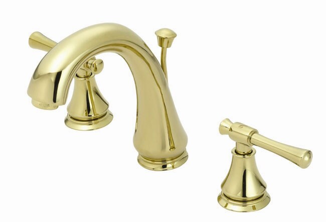 Shop Fontaine 8 Inch Widespread Polished Brass Bath Sink Faucet