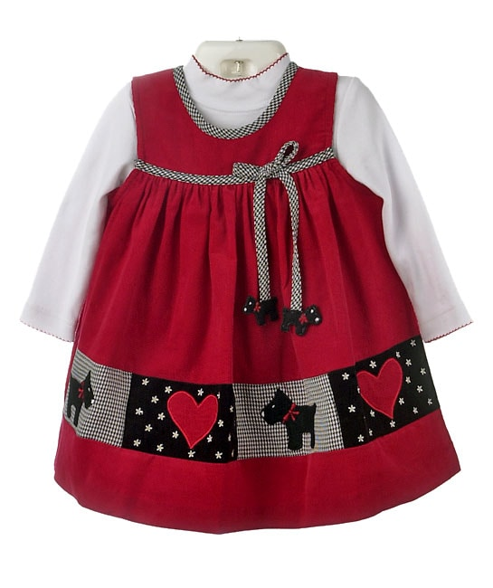 e8360a02cb49d Shop Rare Editions Toddler Girl's Red Corduroy Jumper Dress - Free Shipping  On Orders Over $45 - Overstock - 2154335
