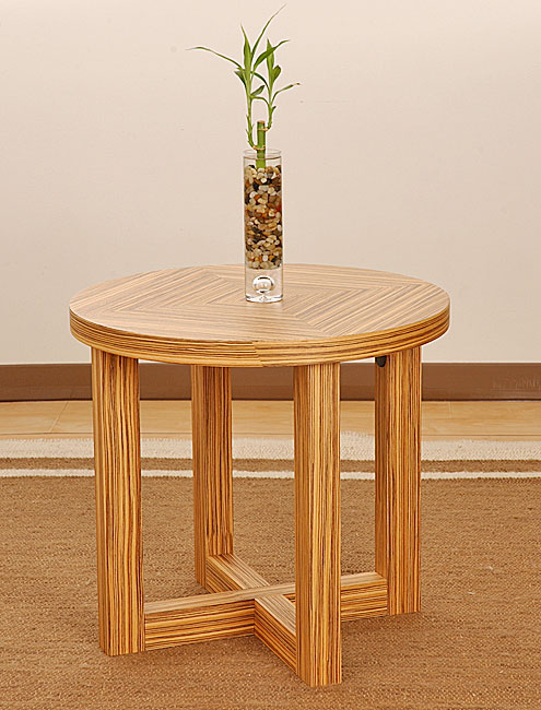 Zebra Wood End Table