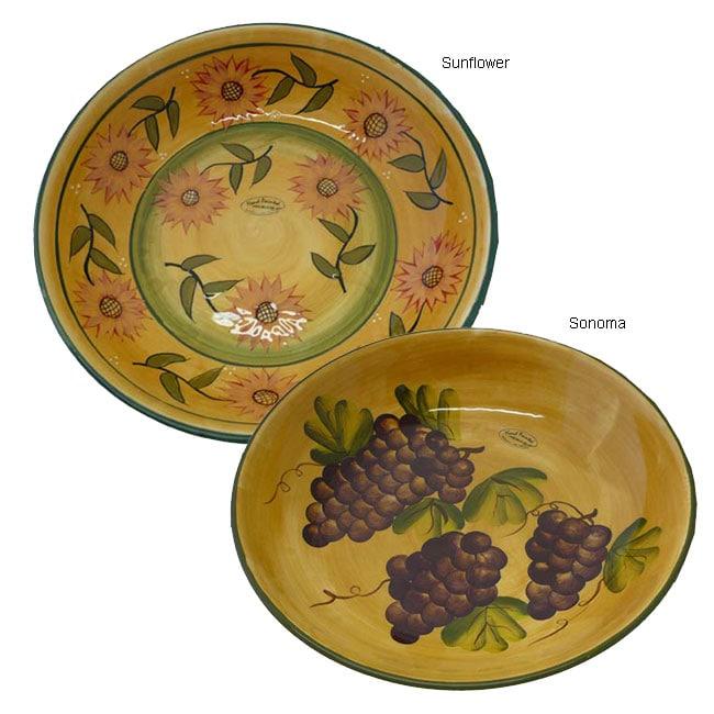 Tuscan Hand-painted Large Pasta/Salad/Fruit Bowl