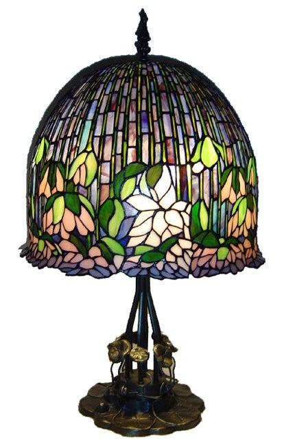 Tiffany Style Lotus Table Lamp