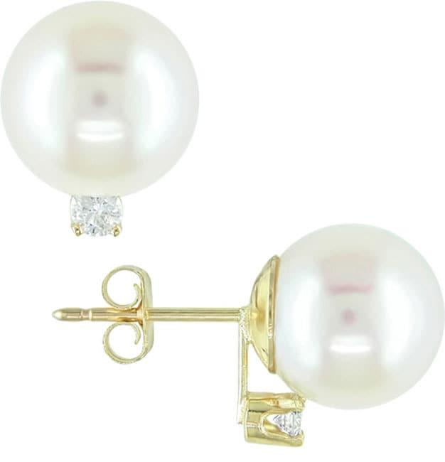 14k White Gold Cultured Freshwater Pearl Earrings (Case of 3) with Bonus Earrings
