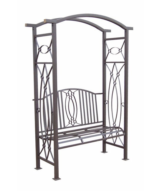 Constantine Wrought Iron Garden Arbor With Bench Free