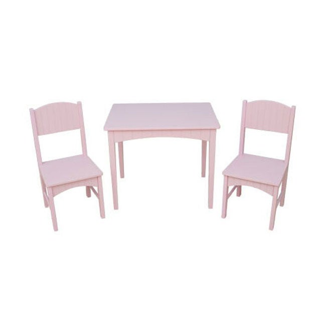 Shop Nantucket Pink Table And Chair Set Free Shipping