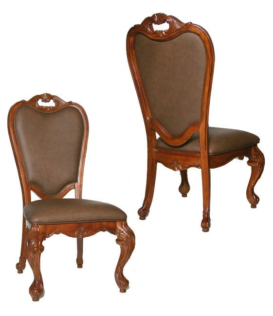 Kathy Ireland Lafayette Park Leather Dining Chairs Set Of