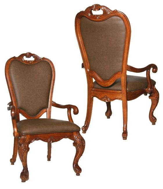 Kathy Ireland Dining Room Furniture: Kathy Ireland Lafayette Park Leather Arm Chairs (Set Of 2