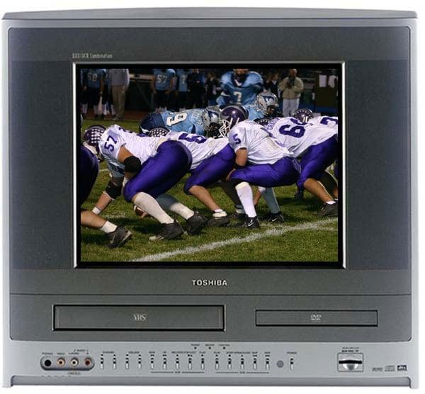 Toshiba Mw14f51 14 Inch Tv Dvd Vcr Combo Refurbished