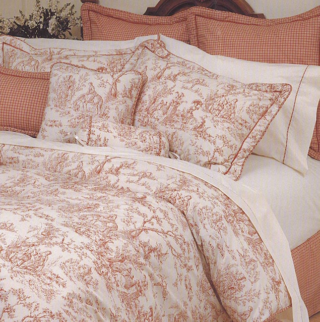 Toile Red Comforter Set Free Shipping Today Overstock