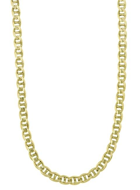14k Gold Marina Anchor 24-inch Link Chain