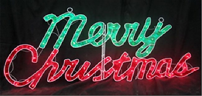 Holographic 46 Inch 2d Merry Christmas Sign Free