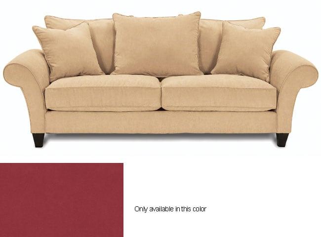 Captivating Paprika Sofa Stanza Suede Effect Left Hand Corner Was