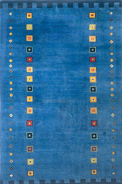 Hand Knotted Blue Gabbeh Runner Rug 2 6 X 8 Free
