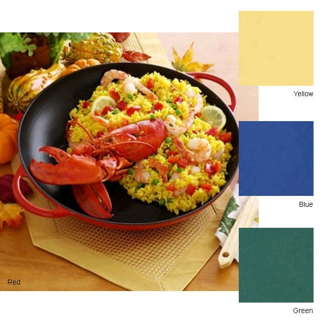 Country Cottage Cast Iron 13 in. Paella Pan