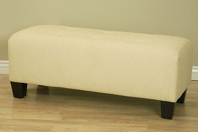 Shop Champagne 6 Button Tufted Bench Free Shipping Today