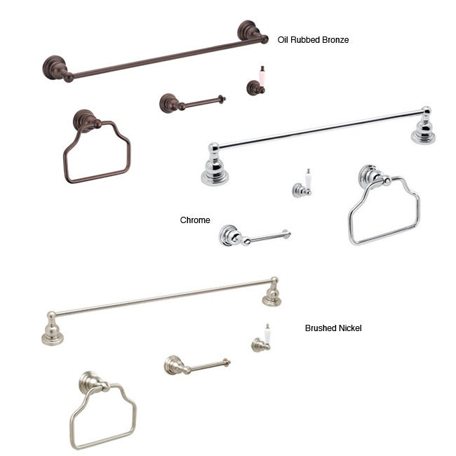 Fontaine Bathroom Towel Bar & Ring Accessory Set