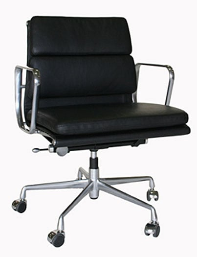 Adjustable Rolling Leather Office Chair