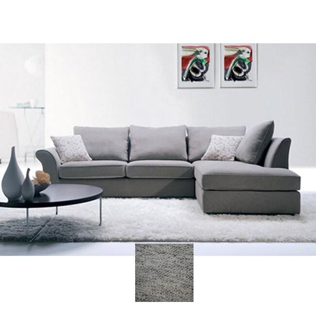 shop bradford stone twill sectional sofa free shipping today rh overstock com twill fabric sectional sofa Deep Sectional Sofa with Chaise