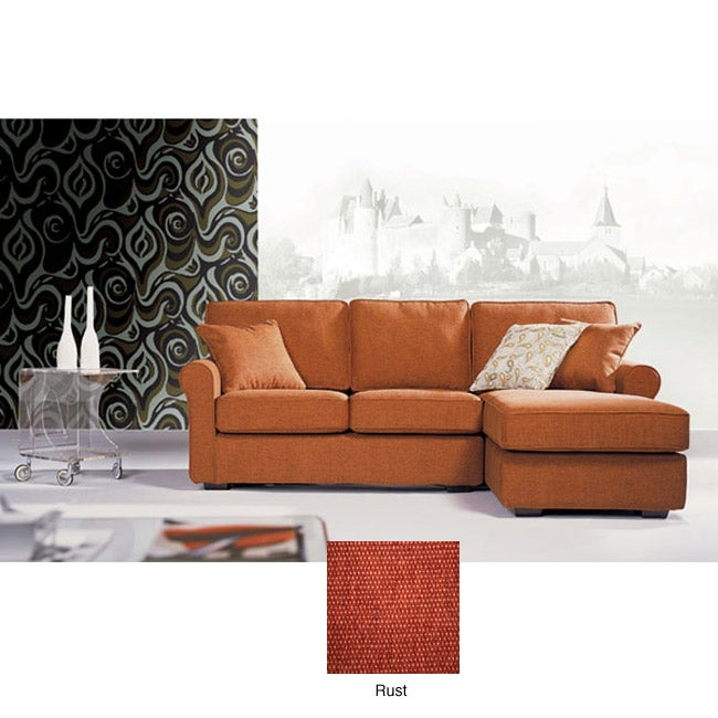 Chelsea Petite Rust Sectional Sofa Free Shipping Today
