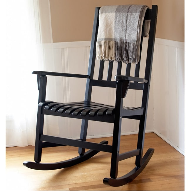 Black Wooden Rocking Chair
