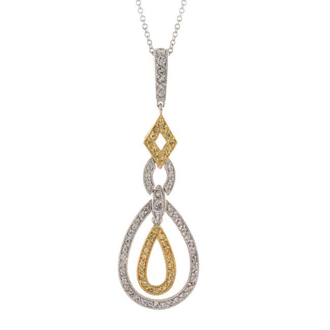 Icz Stonez 18k Gold over Sterling Silver Tear-drop Pendant