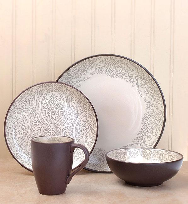 222 Fifth Chandi Linen 16-piece Dinnerware Set