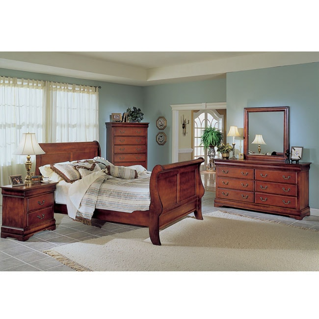 Claremont Cherry 5-piece Queen Bedroom Set - Free Shipping Today ...