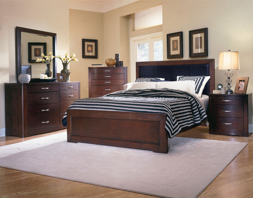 Bedroom Sets Espresso parkside espresso 5-piece bedroom set - free shipping today