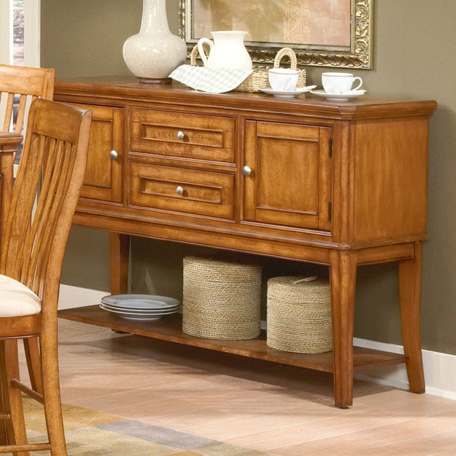 Buffet Table For Dining Room: Versatility Oak Buffet Table