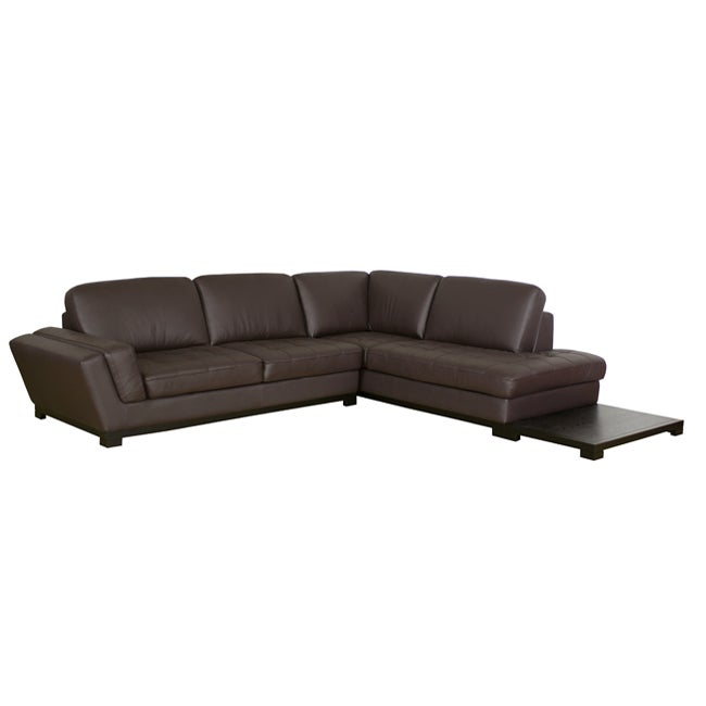 Wondrous Shop Carson Dark Brown Leather Sectional Sofa Ships To Pdpeps Interior Chair Design Pdpepsorg