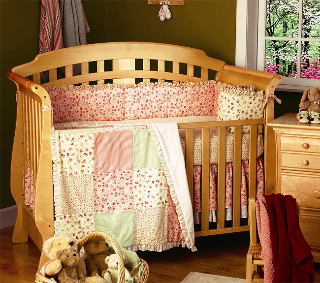 Waverly Petite Rose 6 Piece Crib Bedding Set Free