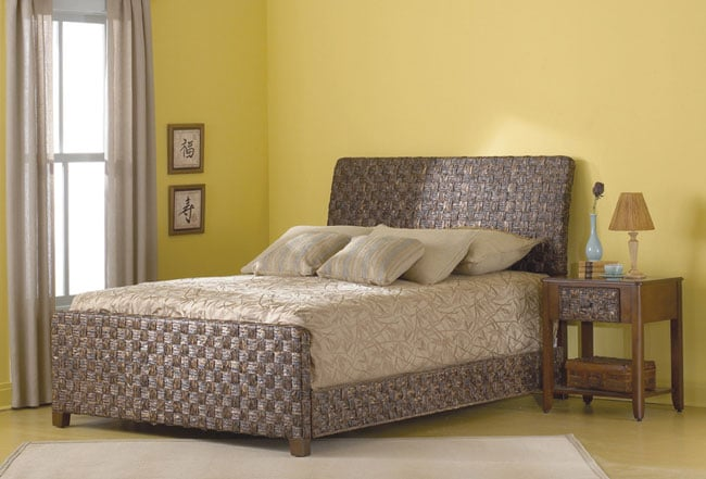 Raffia Wicker King Size Bed