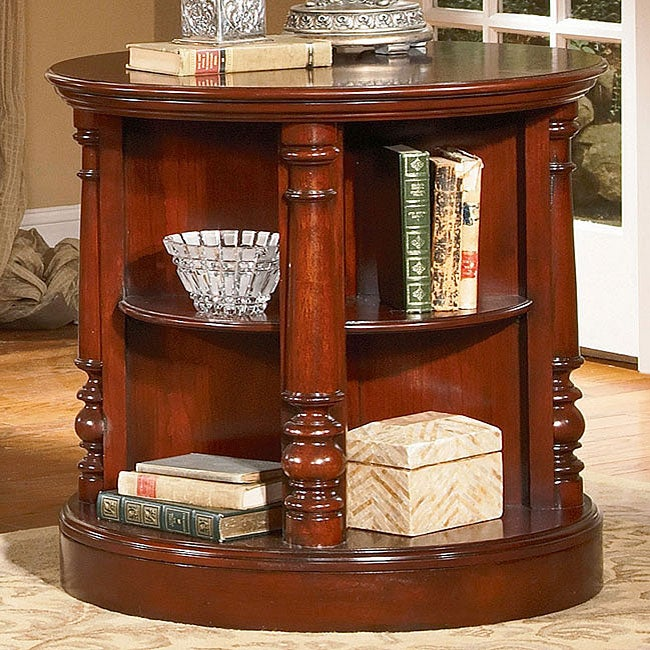 Cherry Revolving Book Table
